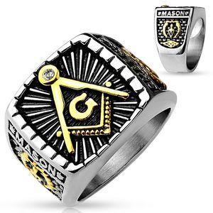 New stainless steel Masonic ring size 9